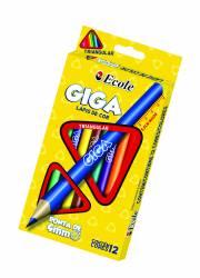 Lápis de Cor Giga 12 cores - 100.2312 - PCT C/6 UNIDADES