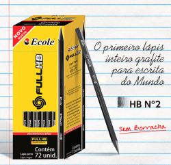 Lápis Grafite FULL HB Nº 2 sem borracha - 220.0020