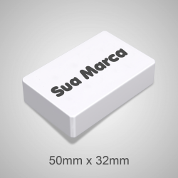 Borracha Plastica Branca 50x32x8mm - 000.9208