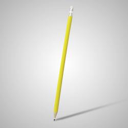 Lápis Resinado Grafite Amarelo Com Borracha - 000.7805