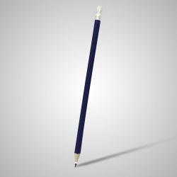 Lápis Resinado Grafite Azul Marinho Com Borracha - 000.7776