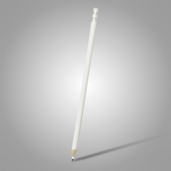 Lápis Resinado Grafite Branco Com Borracha - 000.7773