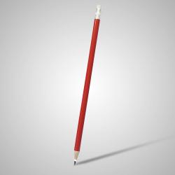 Lápis Resinado Grafite Vermelho Com Borracha - 000.7784
